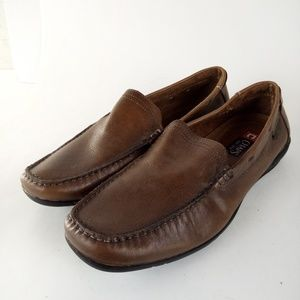 Chaps Loafers Size 12 Brown Shoes Leather